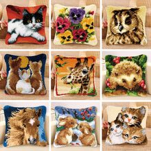 37/43/50 cm Latch Hook Cushion Knooppakket Knoopkussen Pillow Cover Foamiran For Needlework Embroidery Cross Stitch