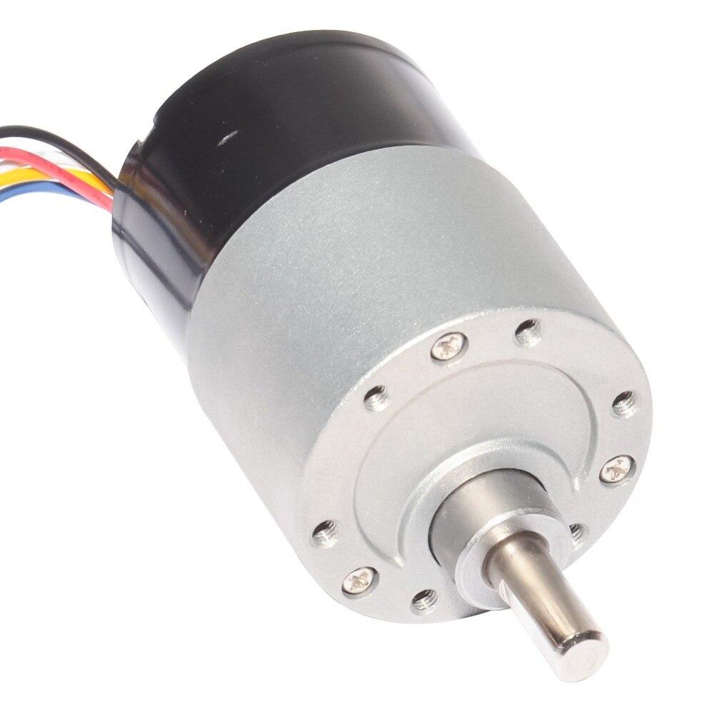 DC Brushless Gear Motor 12V 24V Diameter 37mm 10/20/35/65/100/150/200/300/600/1000RPM BLDC Brushless Gear Motor Electric Motor