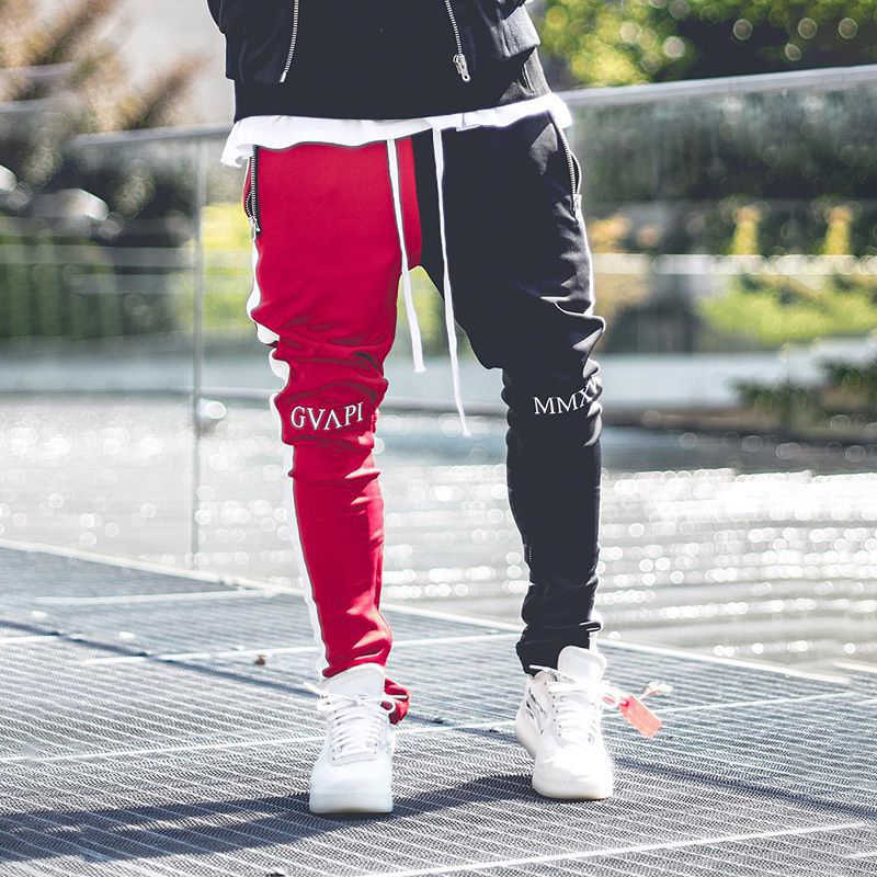 2019 New Cotton Men Joggers Fitness Gym Pants Running Sport Pants Running Sweatpants Autumn Trackpants Elastic Long Trousers Men