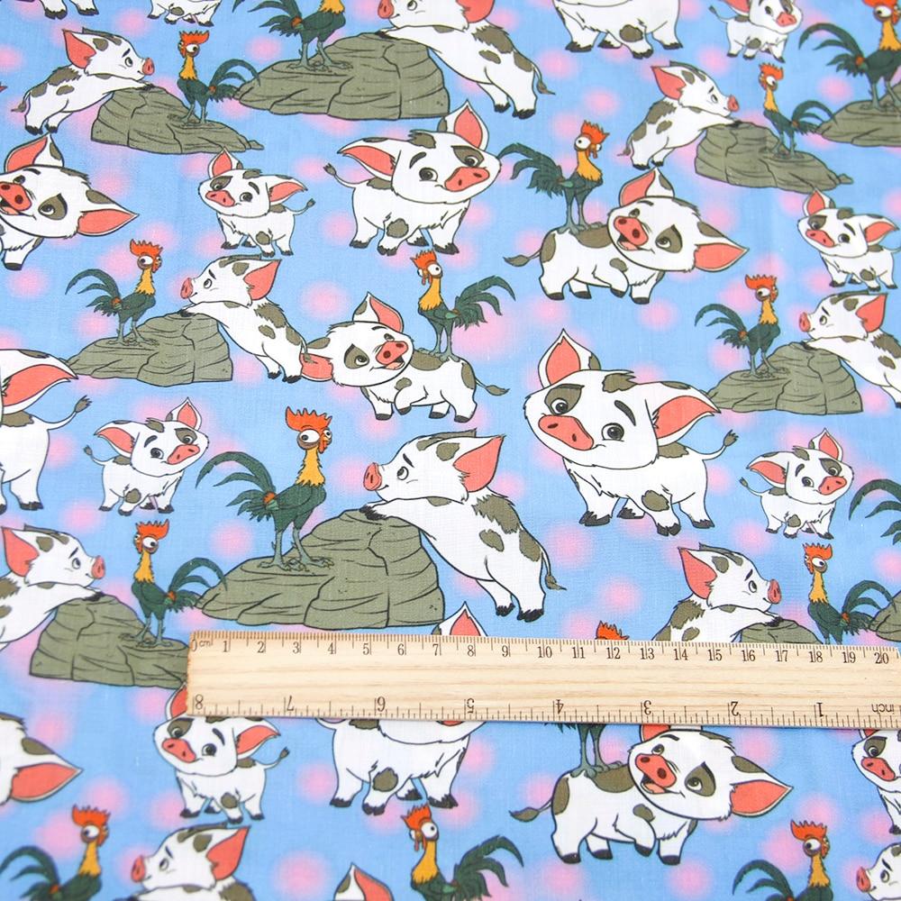 50*140 см мультфильм дизайн полиэстер хлопок ткань для ткани дети девочки платье Домашний текстиль для шитья ремесла, c2445 - Цвет: 1054853001