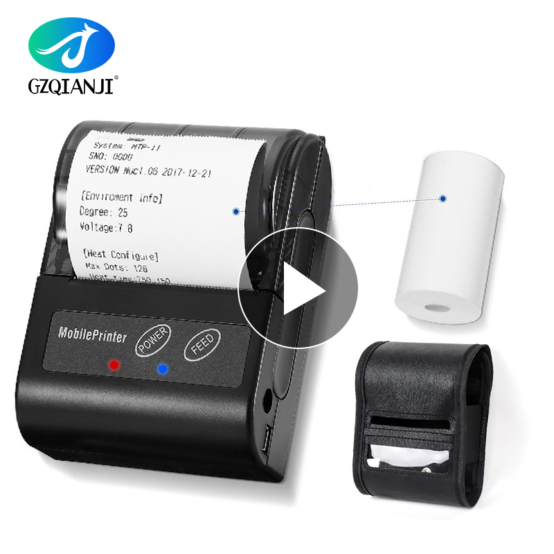 POS Mini 58mm Bluetooth Printer Thermal Printer Pocket Portable Ticket Receipt USB Handheld Wireless For Android IOS System