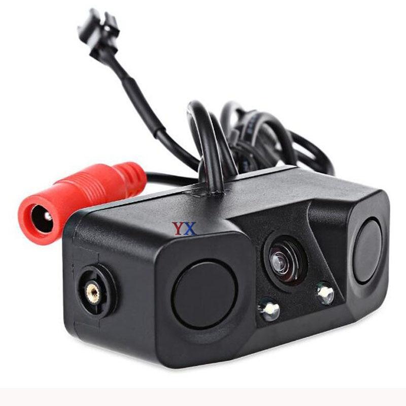 Koorinwoo беспроводной AHD Автомобильный видео парковочные датчики камера заднего вида 2 сигнализация с монитором складные радары парковочные п...