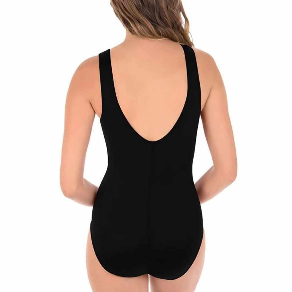 Costumi da Bagno Del Bikini Delle Donne Costumi da Bagno a Vita Alta Sexy Nero One-Spalla Due Pezzi Push Up Costume da Bagno Femminile di Sport Della Signora costume da Bagno