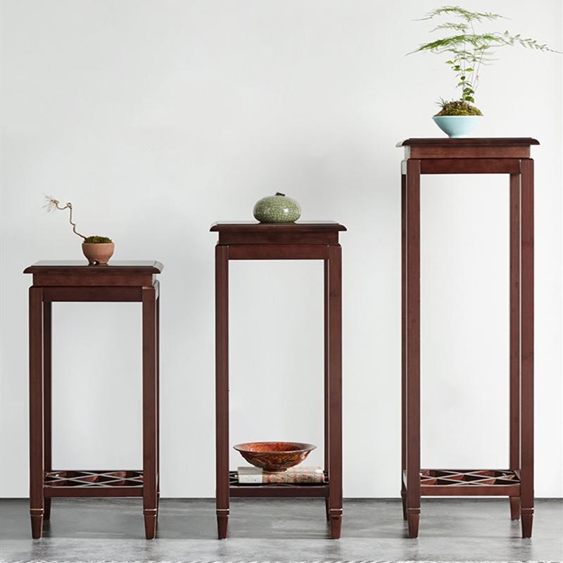 Chlorophytum Flower Rack Double-deck Bamboo To Fake Something Antique Chinese Style Frame A Living Room Flower Rack