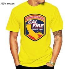 2020 gorąca sprzedaż Cal fire california-niestandardowy T-shirt Tee 100% ctton Tee shirt