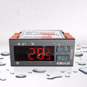 Elitech alta calidad AC 220V controlador de temperatura con función de alarma de ventilador de descongelación de refrigeración y sensores