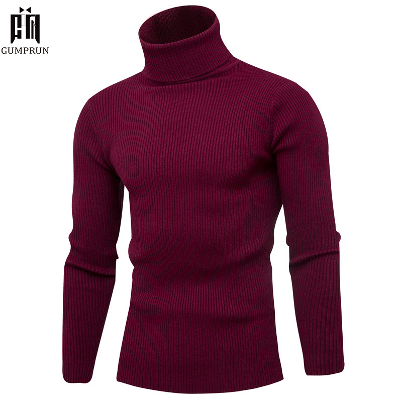 Winter High Neck Thick Warm Sweater Men Turtleneck 2019 New Brand Men Sweater Slim Fit Pullover Men Knitwear Male Double Collar