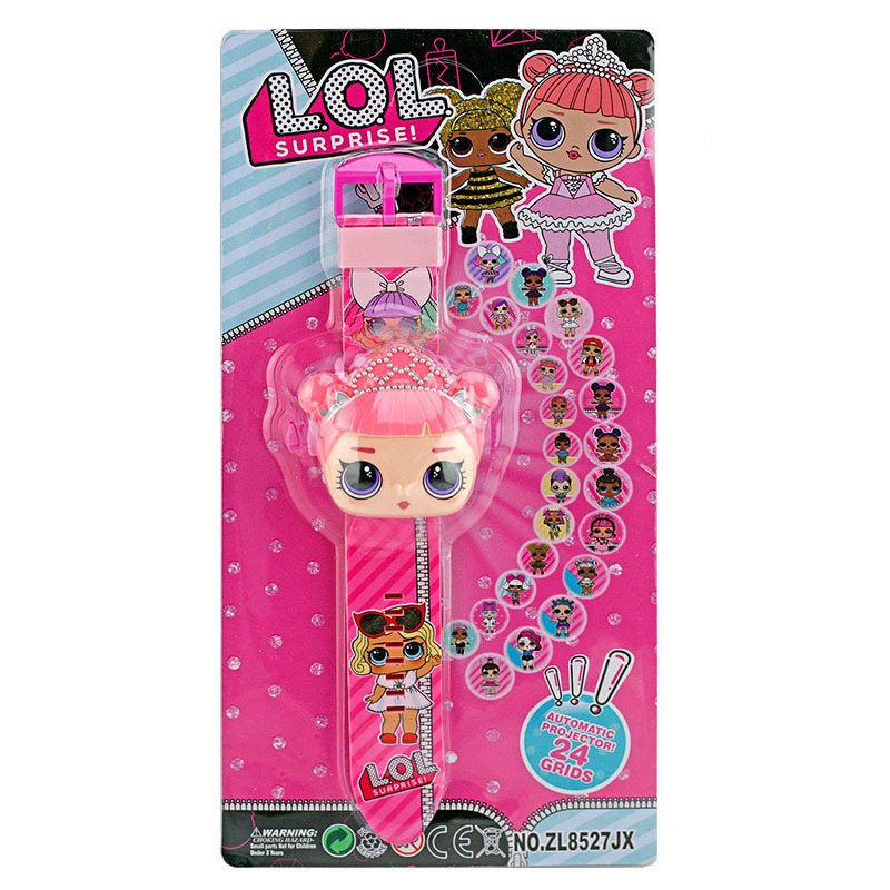 LOL SURPRISE Dolls 3D Projection Cartoon Anime L.o.l Watches Figure Child Educational Kids Boys Girls Clock Toys For Children