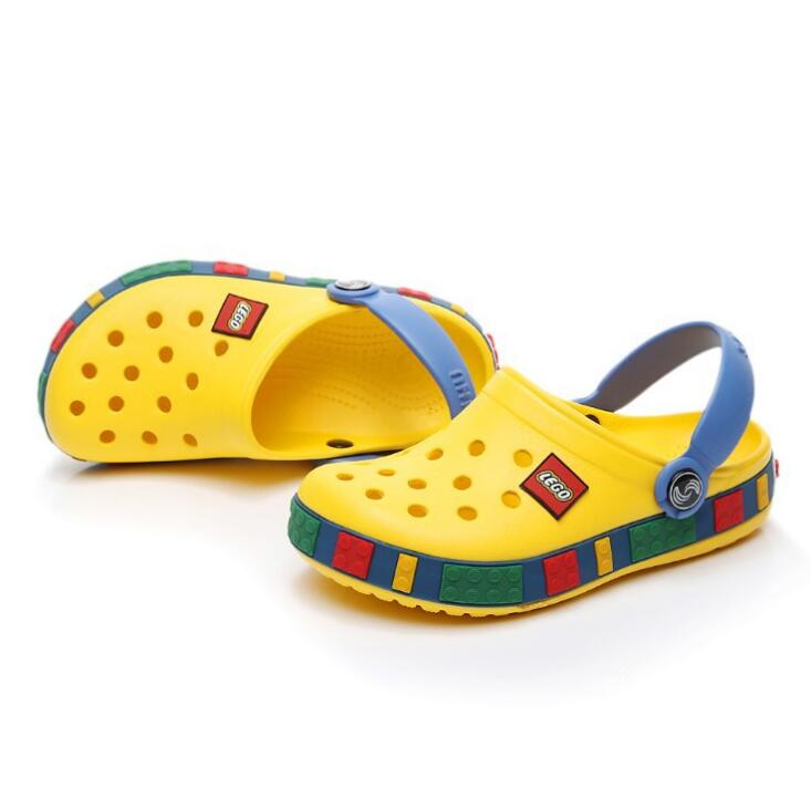 Hot Summer Girls Boys Kids Children's Beach Sandals Baby Rubber Hole Clogs Shoes Slippers Breathing For 4 -12 Years Old