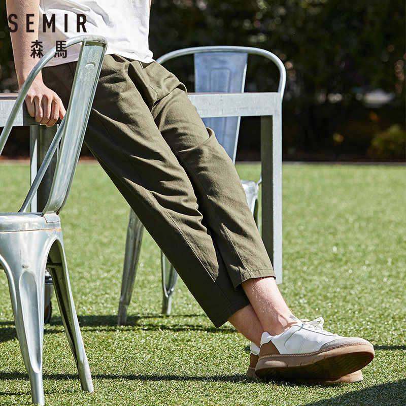 SEMIR 2019 yaz yeni rahat pantolon erkek pantolon kore versiyonu gelgit dokuz pantolon erkekler gevşek ince ayak gençlik