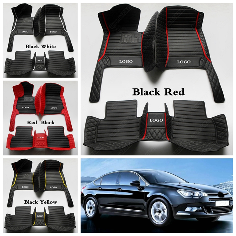 08 on CITROEN C3 PICASSO BLACK /& RED TRIM CAR FLOOR MATS