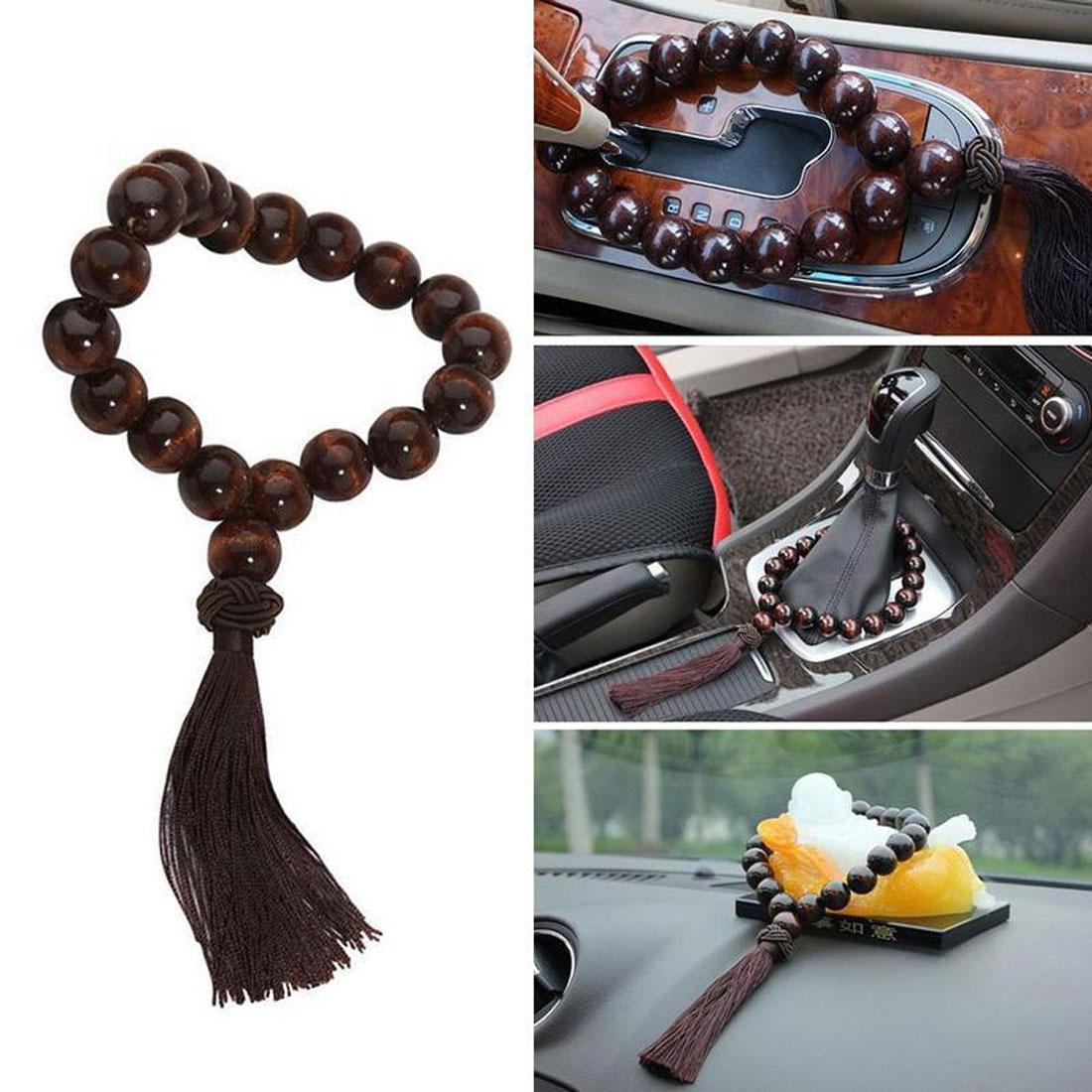 Автомобильное зеркало заднего вида подвесной кулон деревянные бусины Будды украшение интерьера украшение автомобильные аксессуары