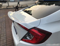 for honda civic spoiler MC style for 2016 2019 civic rear trunk wing primer balck white color paint ABS high quality spoiler