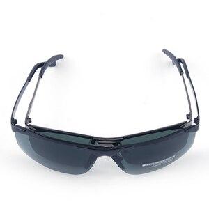 Image 2 - Vazrobe المتضخم النظارات الشمسية الرجال الاستقطاب 165 مللي متر بدون شفة نظارات شمسية للرجل واسعة رئيس إطار كبير القيادة نمط الرياضة