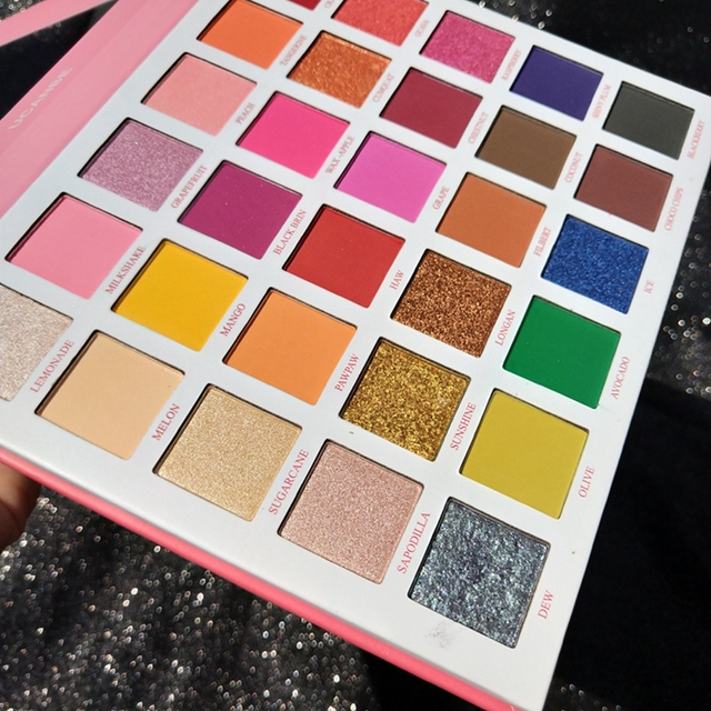 UCANBE 30 Colors Fruit Pie Filling Eye Shadow Palette Makeup Kit Vibrant Bright Glitter Shimmer Matte Shades Pigment Eyeshadow 2