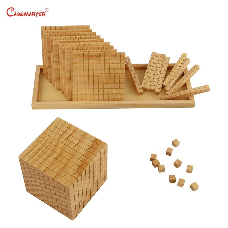 Juguetes de matemáticas diez bases, caja de madera Montessori profesional Montessori, juguetes educativos para estudiantes, juguetes para niños MA085