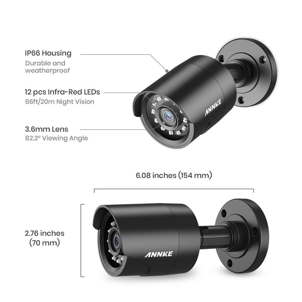 ANÃO 2MP IP66 4PCS 1080P Câmeras de Vigilância À Prova D' Água Ao Ar Livre Indoor CCTV Camera Kit 30m Night Vision com inteligente IR Cam - 4