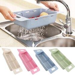 DIDIHOU regulowana suszarka do naczyń zlew kosz spustowy mycie warzyw owoce plastikowe spinacze do prania organizator na akcesoria kuchenne|Półki i uchwyty|Dom i ogród -