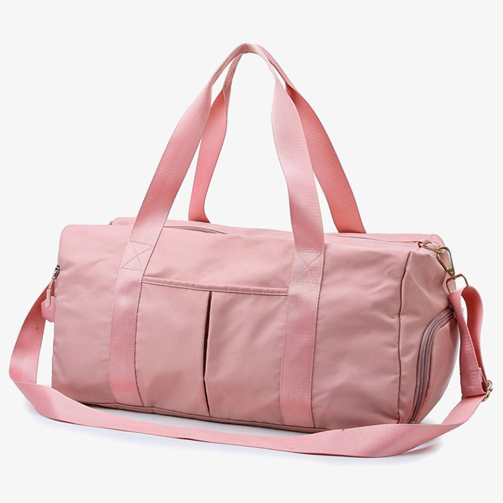 H328ccec287dd45cabc99109358e4da2fY - Waterproof Woman Sport Bag For Fitness Outdoor Pink Gym Bag Men Nylon Clothing Fitness Bag Girls Training Travel Handbags