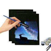 Toile de peinture à l'huile noire, Mini et tendue, bricolage, fournitures d'art pour la maison, papeterie d'artiste, cadeau pour enfants