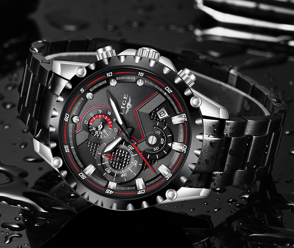 H328ce6431dc64fa881bdb57a57b4dc584 LIGE Top Brand Luxury Mens Fashion Watch Men Sport Waterproof Quartz Watches Men All Steel Army Military Watch Relogio Masculino