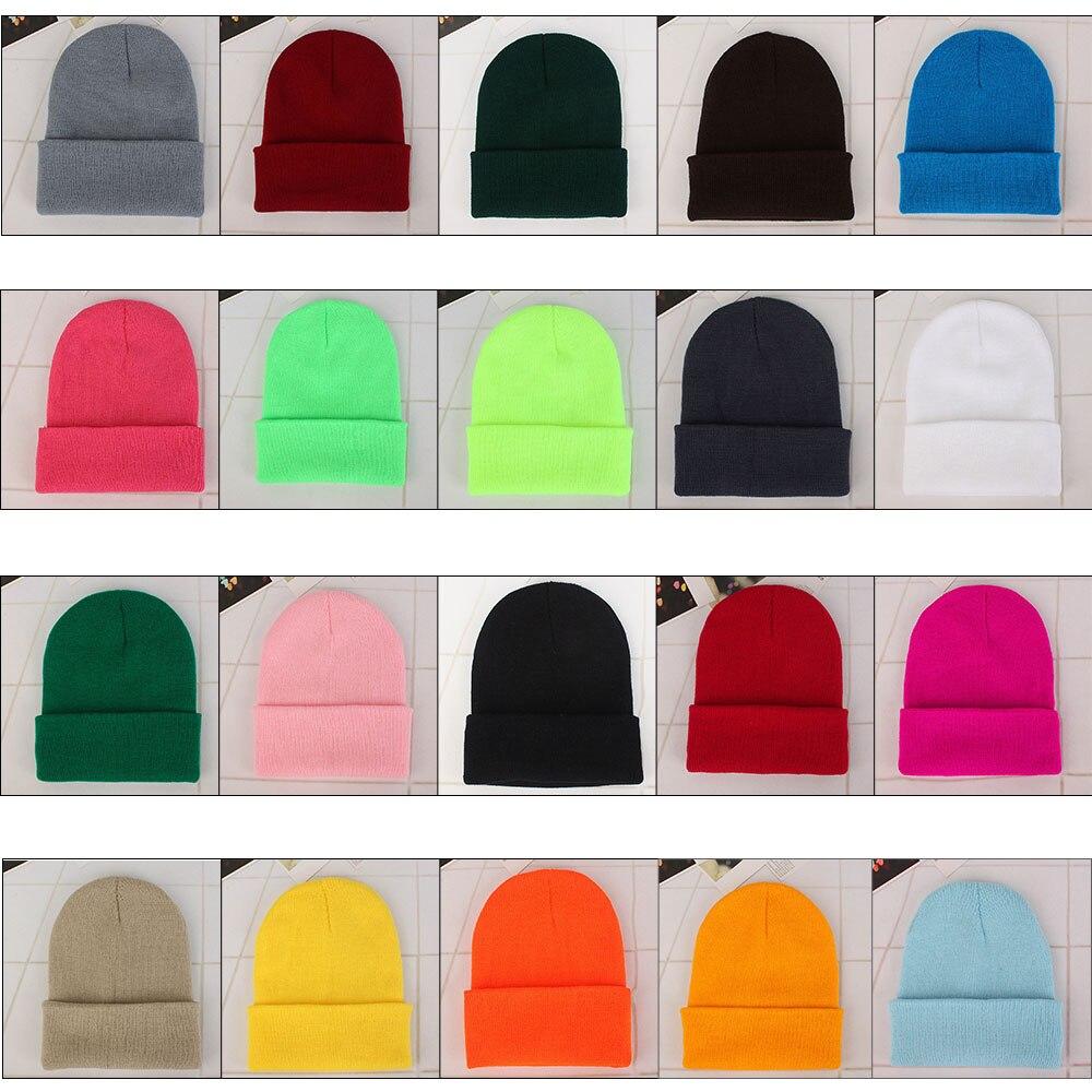 Hiver hommes femmes unisexe polaire solide laine tricot chapeau automne hiver chaud Couple Beanie tricot Ski chapeaux couverture casquette escalade en plein air