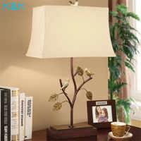 현대 금속 led 책상 램프 lampdeco 침실 작은 새 서 램프 침대 옆 조명 테이블 램프 침실 led 데스크 라이