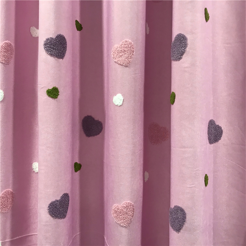 Mega Discount A7fde4 Heart Shape Embroidered Semi Blackout Pink Curtains For Kids Girls Bedroom White Sheer Voile Window Curtain Tulle Panel M057t2 Cicig Co