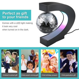 Electronic Magnetic Levitation Floating Globe Antigravity LED Light Globe World Map Christmas Gift Home Decor Drop Shipping Sale