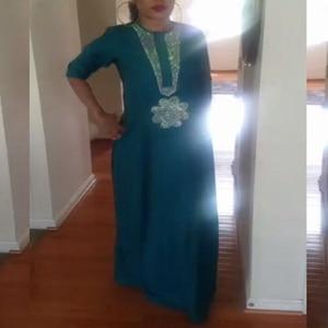 Image 3 - white african women dresses dashiki embroidery plus size ladies african dresses robe africaine maxi dress 3xl 4XL scarf hearwrap