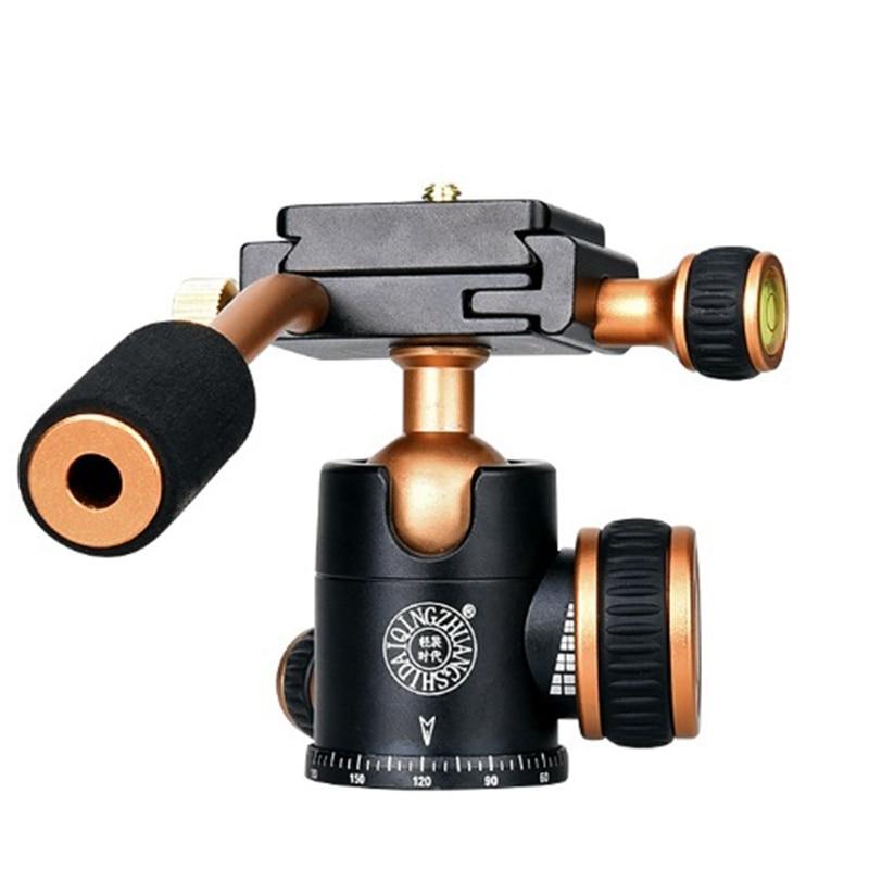 Q160 Professional Travel Camera Tripod Ball Head Handle Pan Head Compatibility for Digital Camera
