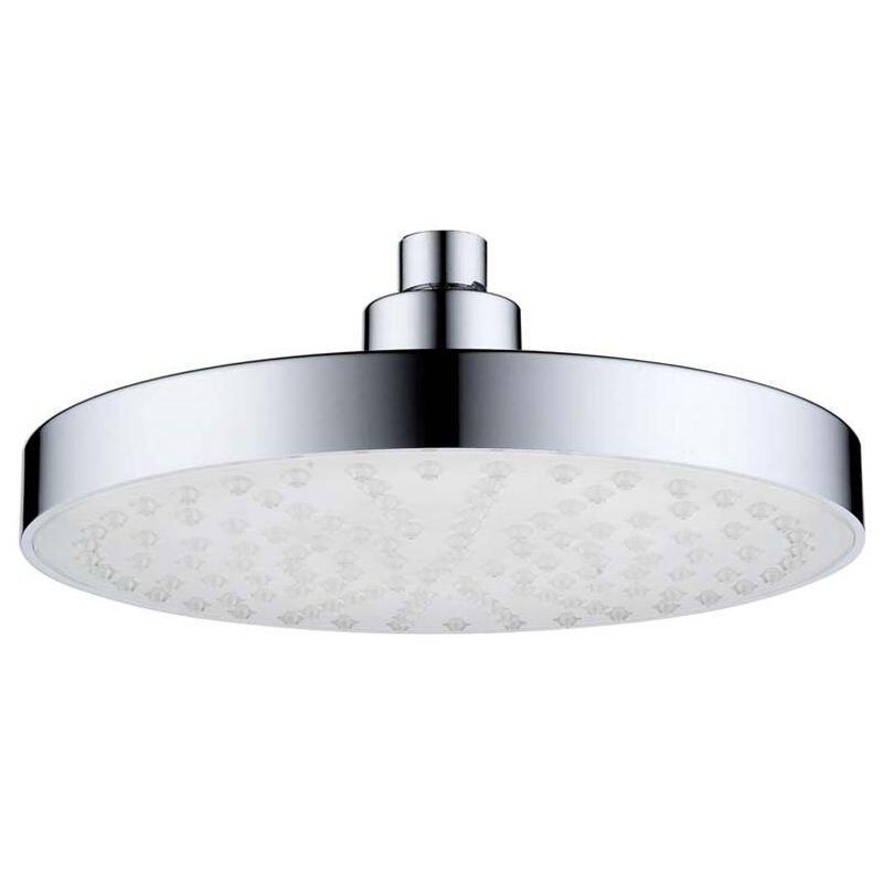 "Stainless Steel 8/"" inch Round Rain Bathroom Shower Head RGB LED Light"