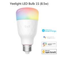 Yeelight-bombilla LED inteligente 1S, colorida YLDP13YL, 800 lúmenes, 8,5 W, E27, Lemon, para aplicación de hogar inteligente, Blanco/RGB