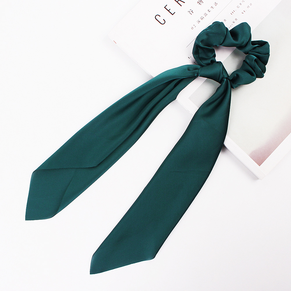 H328dd8d95dd5423692d61fec2a6de5ea2 - Fashion Silk Satin Summer Ponytail Scarf Stripe Flower Print Ribbon Hairbands Hair Scrunchies Vintage Girls Hair Accessoires