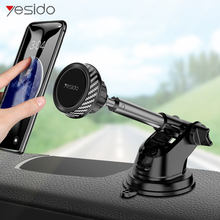Yesido Telescopic Magnetic Car Phone Holder Stand Dashboard Windshield 360° Rotatable Metal Sucker Mount For iPhone Samsung