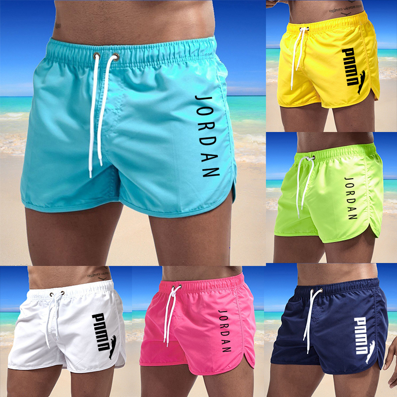 2021 Men's Fashion Europe and America Summer Swimsuit Shorts Beach Wear Swimming Trunks Swimming Trunks Breathable Beach Surfing