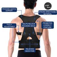 Livraison directe réglable magnétique Posture correcteur mâle femelle retour orthèse ceinture lombaire soutien droit correcteur de espalda