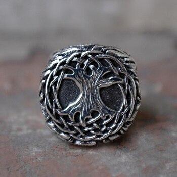EYHIMD натуральное дерево жизни 316L Нержавеющая сталь перстень мужское Yggdrasil Vine Amulet ювелирное изделие семейный подарок дружбы