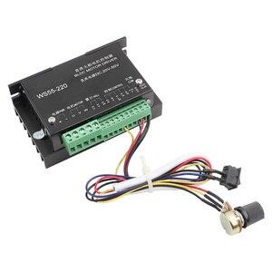 Image 1 - WS55 220 controlador do motorista do motor dc 48v 500w cnc sem escova do eixo bldc controlador do motorista do motor com cabo