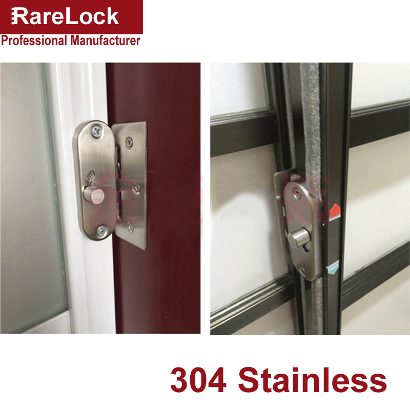 Stainless Latch Sliding Door Lock Dead Bolt for Women Dress Fitting Room Bedroom Bathroom Accessories Barn DIY Rarelock MS447 A