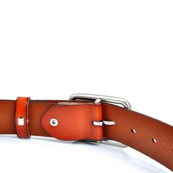Genuine Leather Belts For Women Fashion Silver Pin Buckle Belt Woman Cowskin Female HOT Jeans Strap Blue Real Leather Belts Lady 2