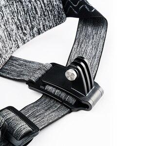 Image 3 - TELESIN حزام صدر للرأس ، حامل مزدوج ، مقاوم للانزلاق ، مرن ، تعديل قوي لـ GoPro 9 8 Osmo ، ملحقات Insta360