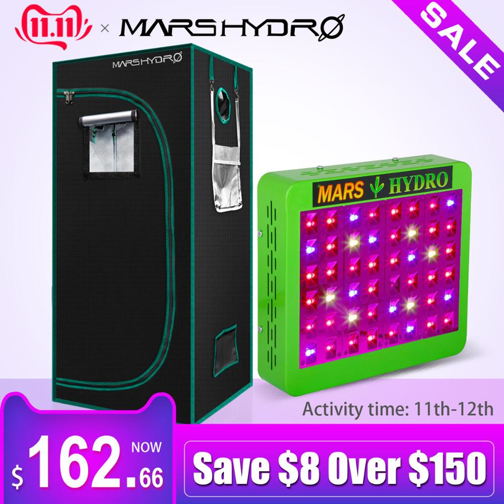 Mars Hydro Full Spectrum Reflector 300W LED Grow Light & 1680D 70*70*160 Grow Tent , Hydroponics Lamp