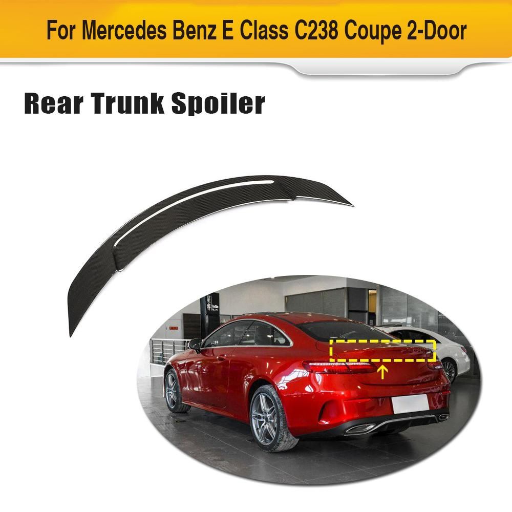 Carbon Fiber Rear <font><b>Spoiler</b></font> Wing For Mercedes-Benz E Class <font><b>C238</b></font> Coupe 2019 2020 Rear Trunk <font><b>Spoiler</b></font> Boot Lip Wing image
