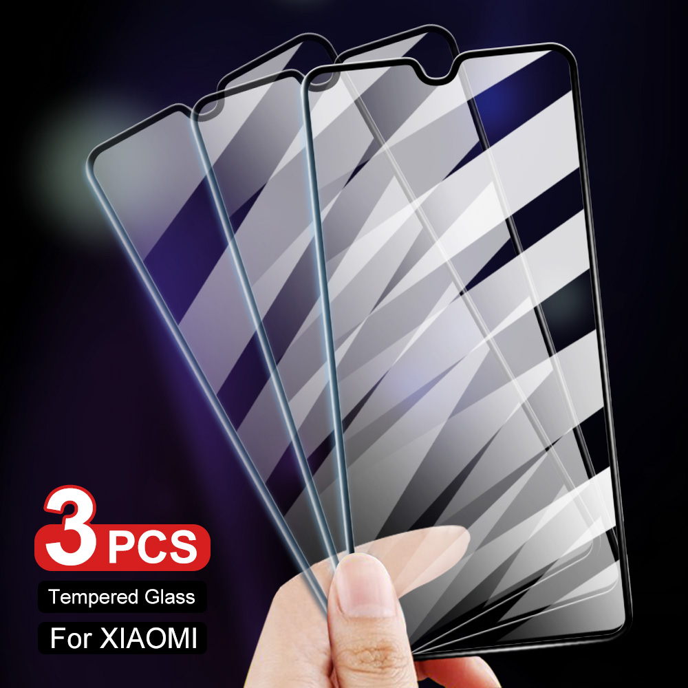 3Pcs 9H Tempered Glass For Xiaomi Mi 8 9 Lite 8 9 SE 9 9T A3 A2 Lite Pocophone F1 Screen Protector For Redmi Note 7 7 Pro Glass(China)