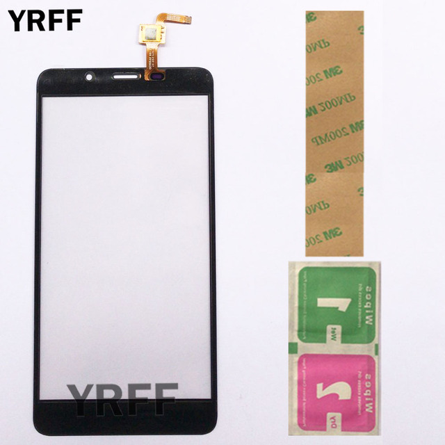 Touch Screen Panel For Leagoo M8 / M8 Pro Touch Screen Sensor Glass Digitizer Front Panel 5.7'' 3M Glue Wipes 3