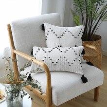 Housses de coussin géométriques, avec glands, décoration de la maison, pour canapé lit, 45x45cm/30x50cm