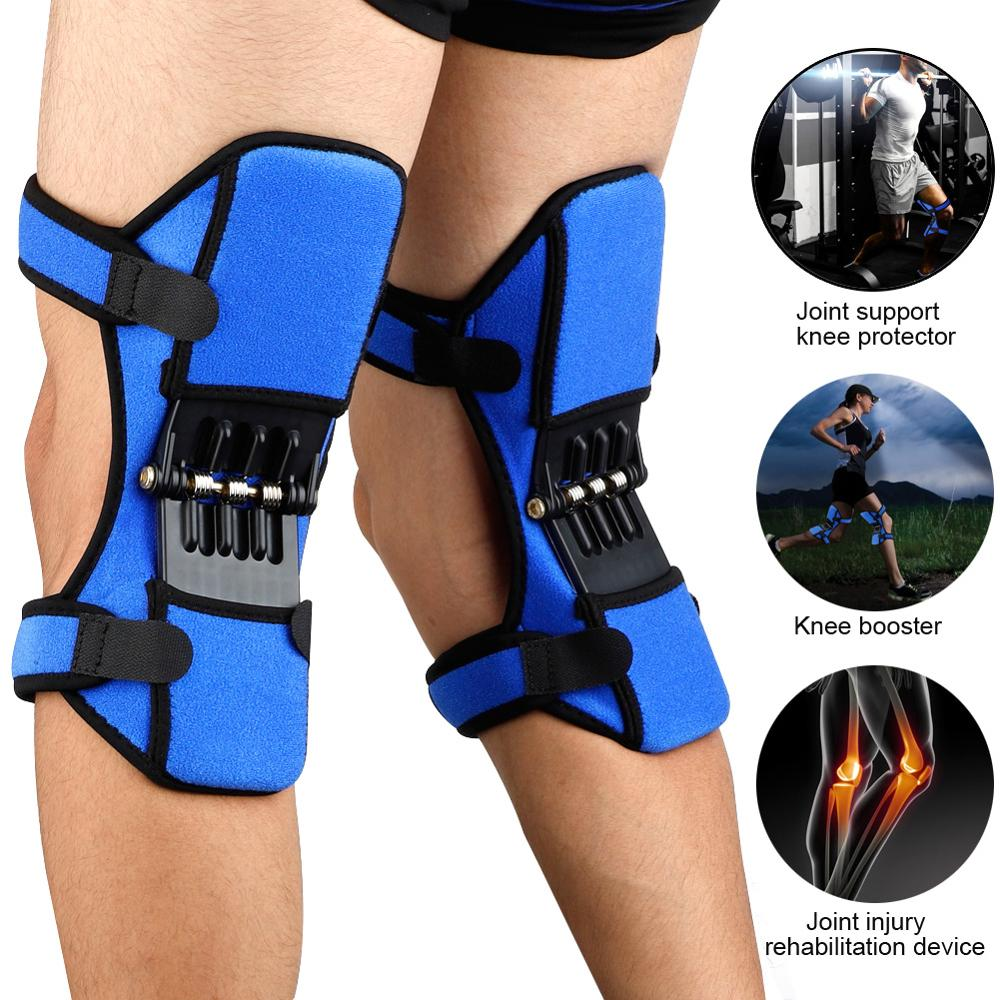 New Power Lift Joint Support Knee Pads Breathable Non-slip Powerful Rebound Force booster Sport Protective Gear