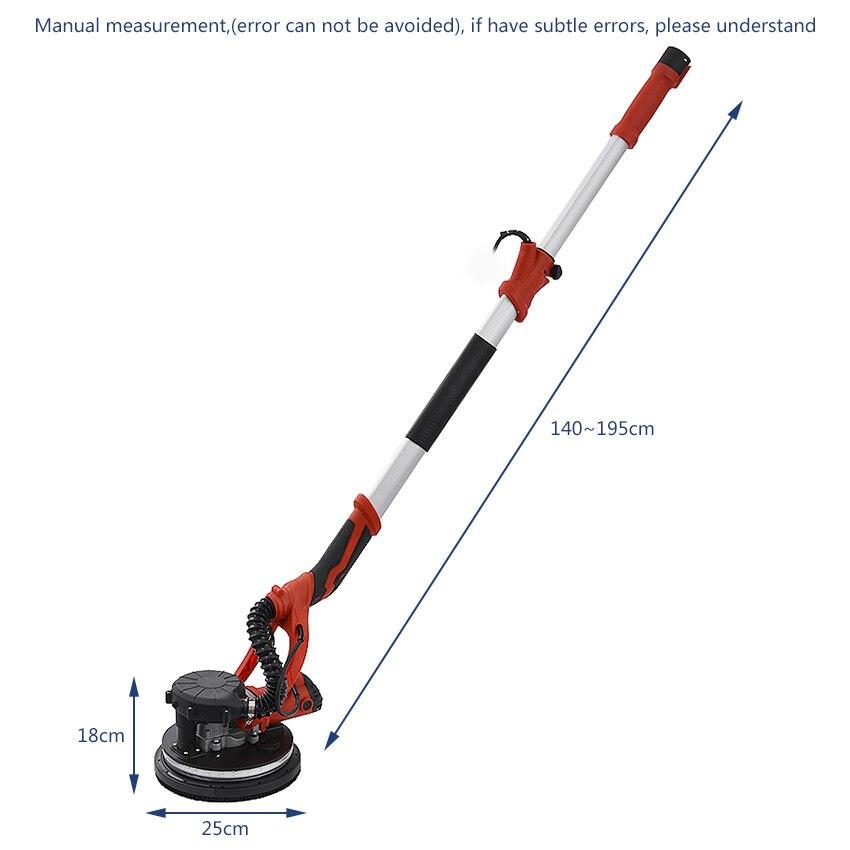 Haushalts Wand Schleifen Maschine selbstansaugende Staub-freies Wand Schleifpapier Maschine Kitt Polieren Maschine 220 V/110 V 850W 1,2-2,2 M