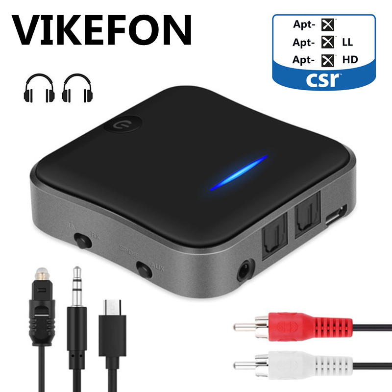 B19 AptX HD faible latence Bluetooth 5.0 émetteur Audio récepteur musique CSR8675 TV PC adaptateur sans fil RCA/SPDIF/3.5mm prise Aux